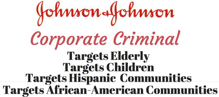 Johnson and Johnson is not unique in its crimes and abuse. Other corporations have bodies buried that will also soon be discovered. The real question is... #KnowledgeIsPower!#AwesomeTeam♥#Odycy☮:-)