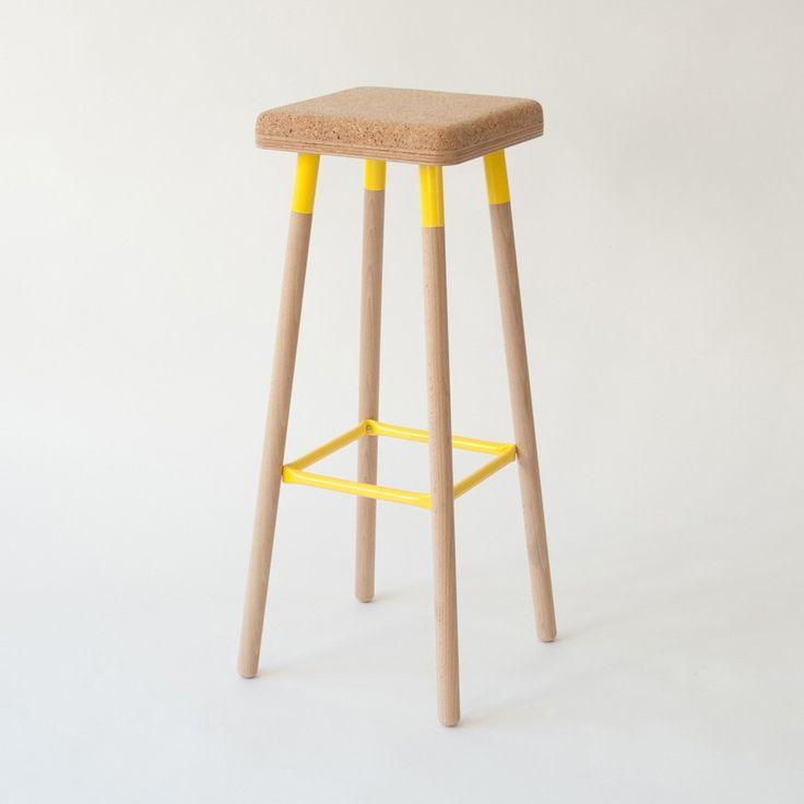Ubikubi Marco Cork Bar Stool-Yellow | ubikubi-bar-stool-Yellow | £224.00