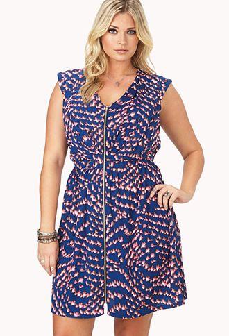 Soaring Bird Zipper Dress | FOREVER21 PLUS - 2000065389