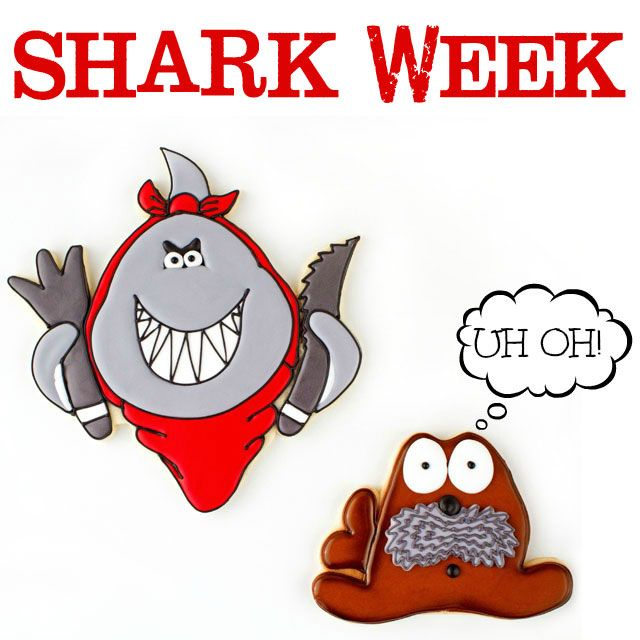 Shark-Week-Cookies-by-thebearfootbaker.com  This is my hubby waiting for Thanksgiving Dinner to be served! LOL