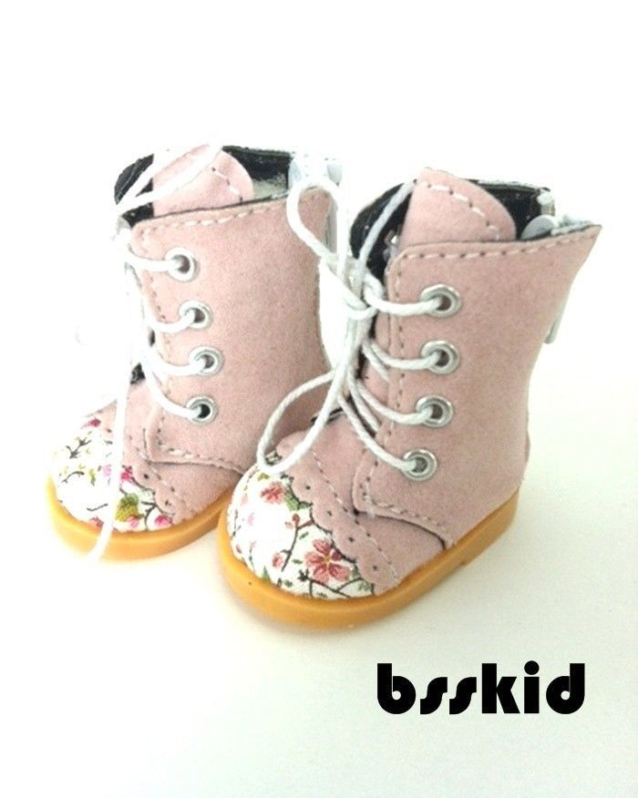"BJD YO SD 1 6 Dollfie 13"" Effner 12"" Kish Doll Shoes Pink Floral Boot 
