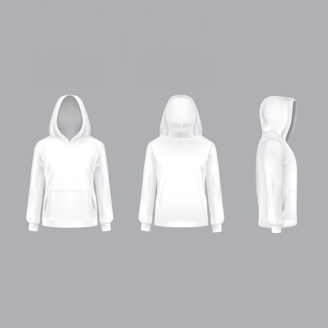 Download Vector Mockup With Realistic White Hoodie Hood Hoodie Hoody Png And Vector With Transparent Background For Free Download Ilustrasi Hoodie Sketsa