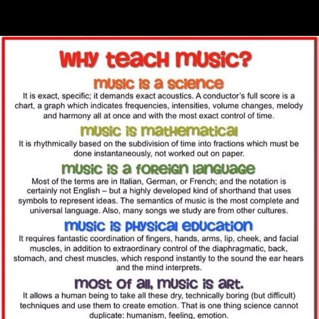 An introduction to the importance of music in education of
