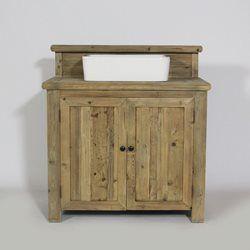Meuble salle de bain AuthentiQ en bois recyclé naturel - En Soldes
