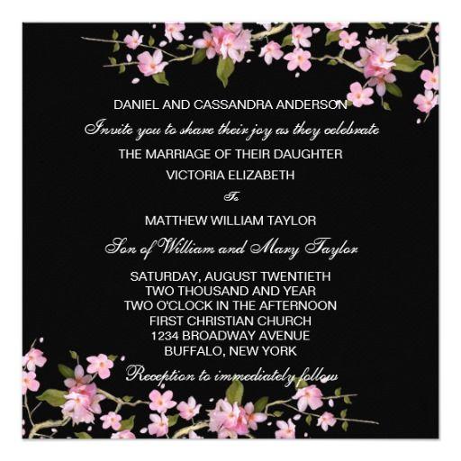 423 besten Pink Wedding Invitations Bilder auf Pinterest