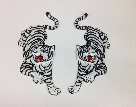 Tiger Patch Applique For 2 Sew or Iron Left or by toptrimming