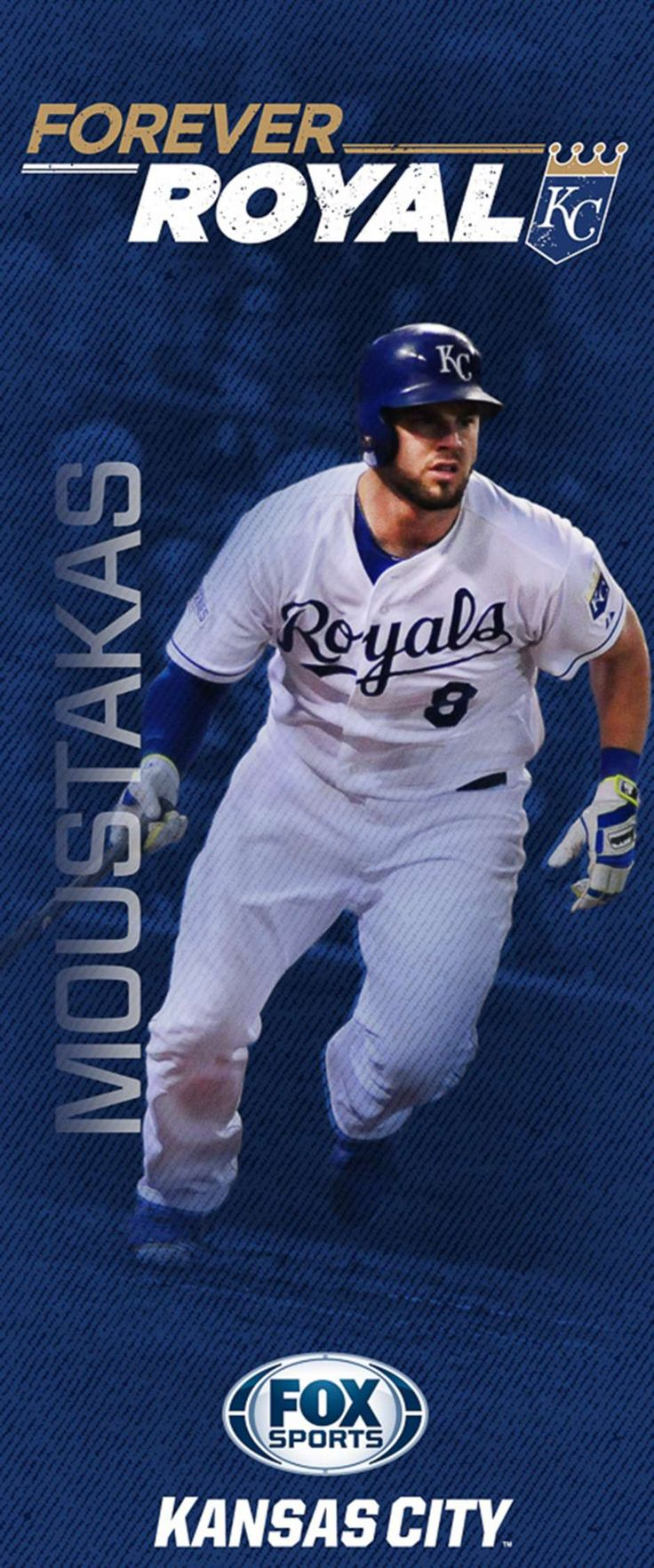 "2015 'Forever Royal' pole banners | FOX Sports Mike ""Moose"" Moustakas"