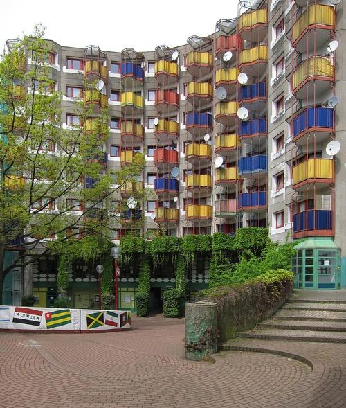 Chorweiler  Köln-Chorweiler, 1967  Social Housing  Gottfried Böhm, Architect