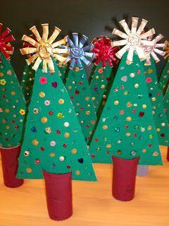 Χριστουγεννιάτικα δεντράκια με ρολά!
