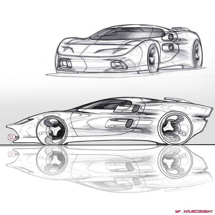 Ford GT40 Doodles By Vivien Kleczek