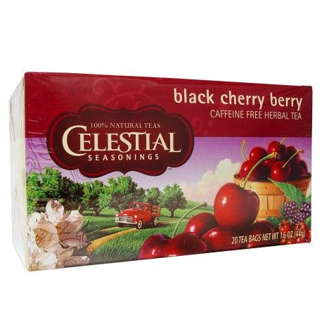 Buy Celestial Seasonings Tea Black Cherry Berry Caffeine Free 20 Tea Bags 44g at Megavitamins Online Supplements Store Australia. Black Cherry Berry Caffeine Free Tea contains all-natural herbs and flavors.