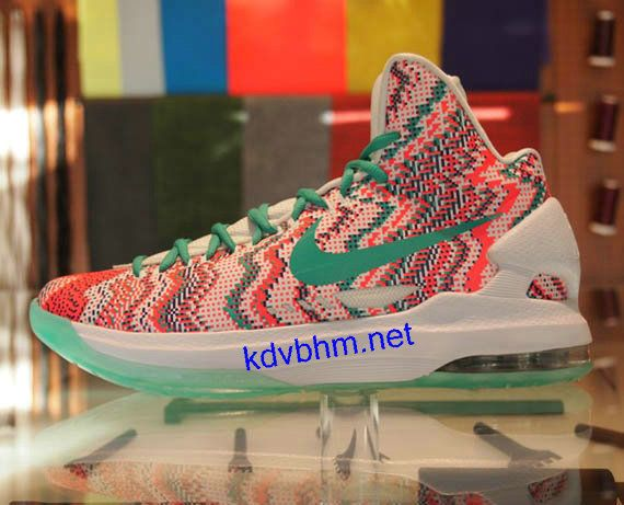 New Arrival 2015 Nike Kevin Durant Cheap sale 2013 KD V White Re