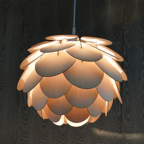 Captivating Beautiful Round Pine Cone Pendant Lamp A Great Light By Oaklamp