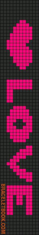 Rotated Alpha Pattern #3342 added by piggyfan2  BraceletBook.com  tjn