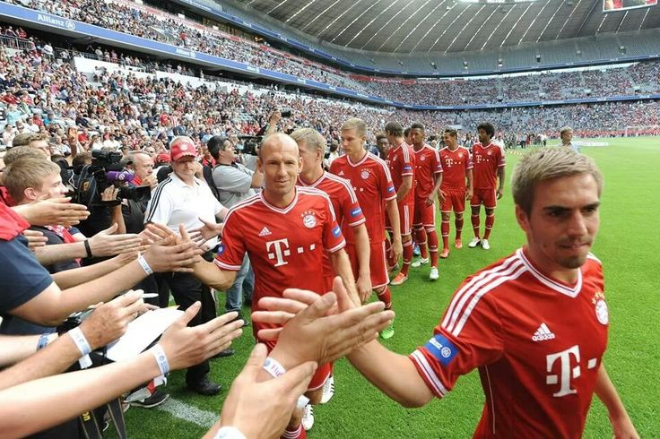 Official team presentation at Allianz Arena