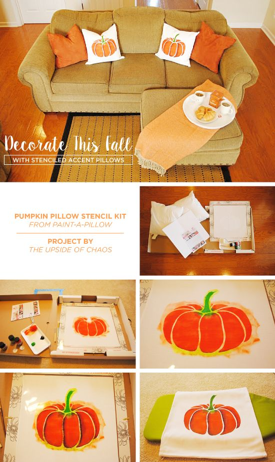 Cutting Edge Stencils shares how to make DIY stenciled accent pillows using the Pumpkin Stencil kit.    http://www.cuttingedgestencils.com/pumpkin-stencils-halloween-throw-pillows-diy-home-decor.html?utm_source=JCG&utm_medium=Pinterest&utm_campaign=Pumpkin%20DIY%20ACCENT%20PILLOW%20STENCIL%20KIT