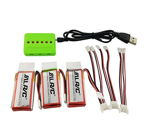 Sea jump 3PCS 450mAh Battery and 1to3 Charger for Udi U818A WIFI FPV U845 U919 U919A U945A RC quadcopter drone spare parts (3 batteries + charger) - http://www.midronepro.net/product/sea-jump-3pcs-450mah-battery-and-1to3-charger-for-udi-u818a-wifi-fpv-u845-u919-u919a-u945a-rc-quadcopter-drone-spare-parts-3-batteries-charger/