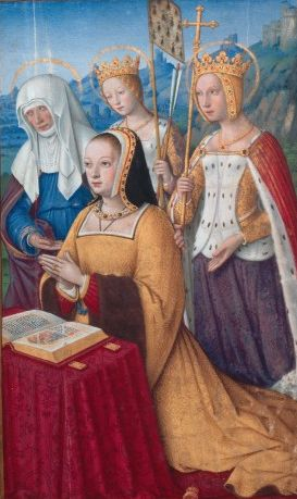 Duchesse Anne en prière - Grandes Heures of Anne of Brittany  Jean Bourdichon He was probably born in Tours, and was a pupil of Jehan Fouquet