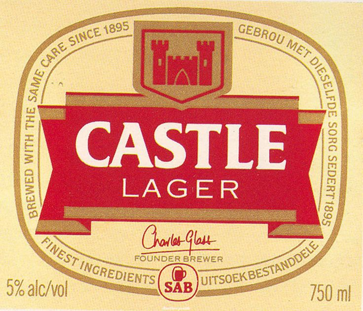 The beer of choice for Kruger and the boys: Castle Lager. Nice bilingual label, too.