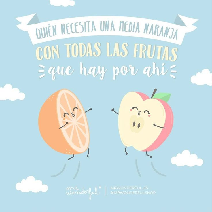 Pst, pst… Sí, sí, a ti te lo decimos… #mrwonderfulshop #quotes #orange #fruit