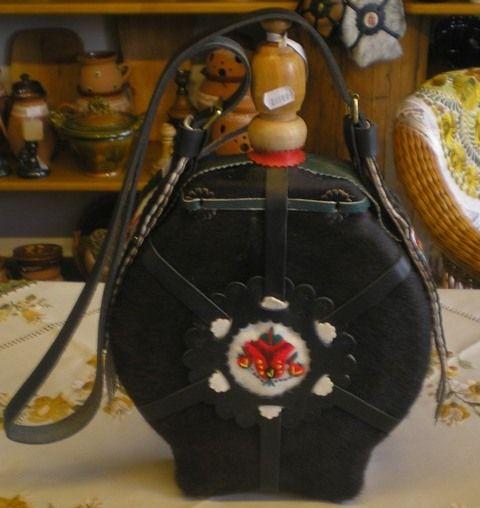 "Hungarian flask - ""csikóbõrõs kulacs"" - handmade."