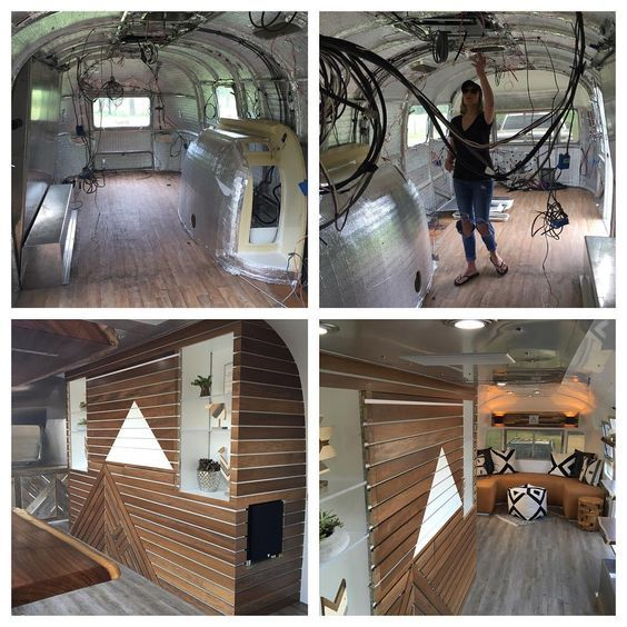 Airstream Interior Conversion Van Out To Thursday Trailers Interiors Ps Be Air Stream