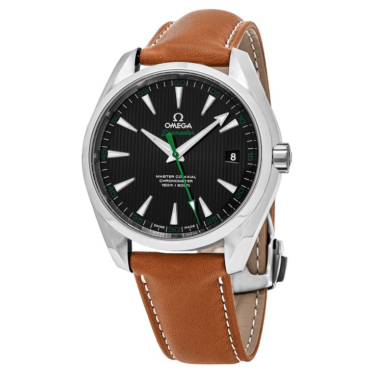 Omega Men's 231.124.22.101.003 'Sea master 300' Black Dial Brown Strap Gold Edition Swiss Automatic Watch