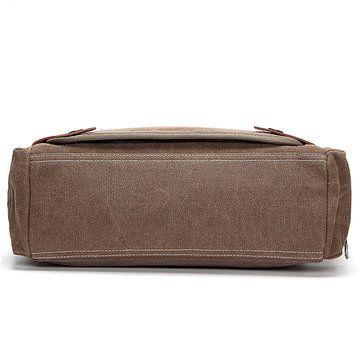 Mens Retro Canvas 14 inch Laptop Bag Casual Multifunctional Crossbody Bag Handba - US$39.88