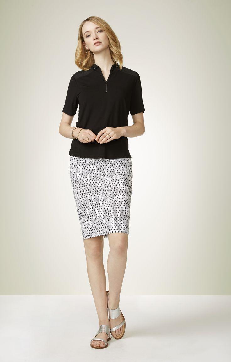 Verge - Acrobat Static Print Skirt  4464Le