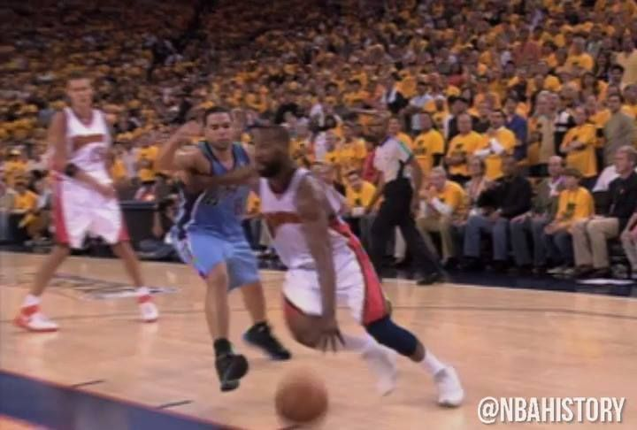Remember this from Baron Davis?!  Flash forward to Golden State Warriors / Utah Jazz, beginning their Western Conference Semis series TONIGHT, 10:30pm/et NBA on TNT