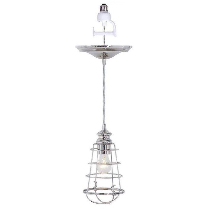 Home decorators collection cage 1 light brushed nickel pendant conversion kit