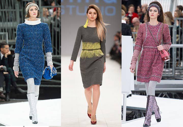 Модные платья осень-зима 2018 года