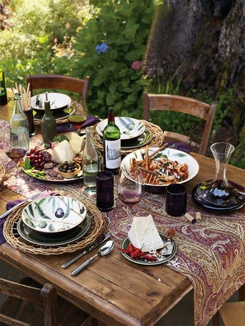 ♔ Garden lunch in Provence