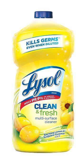 Lysol Clean & Fresh Multi-Surface Cleaner, Sparkling Lemon and Sunflower Essence, 40 Fl Oz