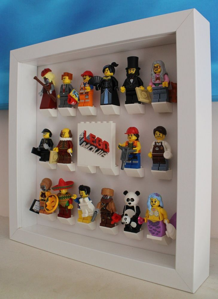 Stunning Lego Movie Minifig Minifigure Series 12 Custom Display Case Frame