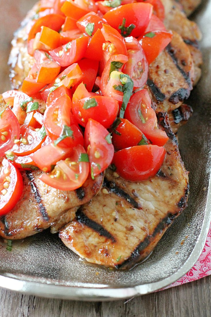 Caprese Grilled Pork by Foodtastic Mom #GrillPorkLikeASteak #ad