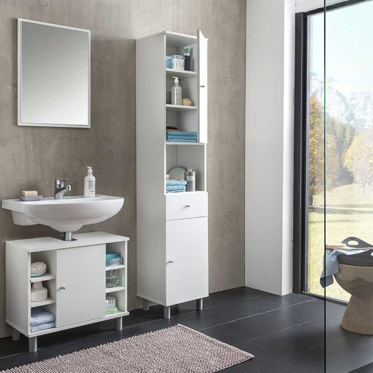 Bad Kombination in Weiß made in Germany (3-teilig) Jetzt bestellen - badmöbel kleines badezimmer