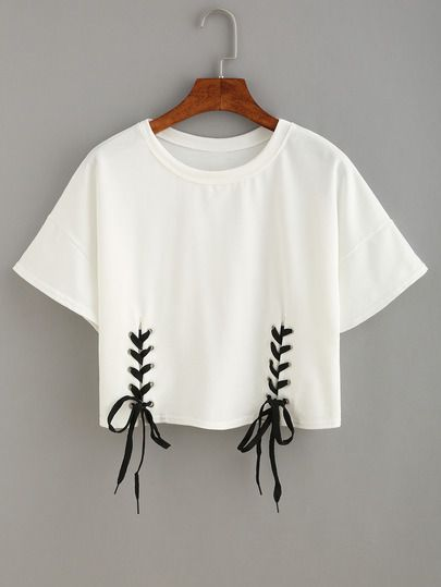 Camiseta cordón crop