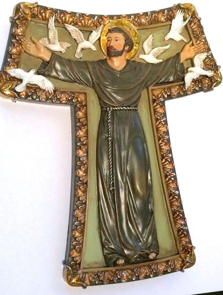 Saint Francis Tau Wall Cross Patron Saint of Animals Beautiful Gift Catholic