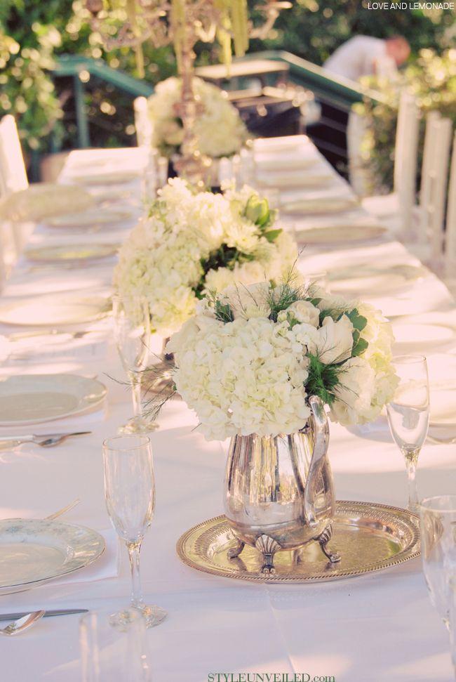 Vintage Chic Wedding Tablescape Idea