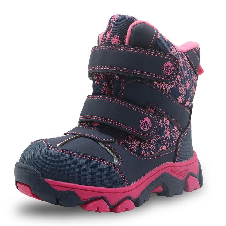 Apakowa Mädchen Winterstiefel Wasserdicht Mitte Der Wade Schnee Stiefel für Mädchen Pu-leder Warme Plüsch kinder Schuhe Gummi kinder Stiefel