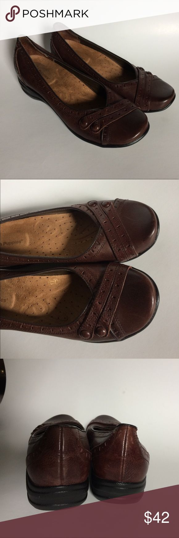 SALE! Brown burlesque Hush Puppies Nearly new dark brown Hush puppies burlesque. Hush Puppies Shoes Flats & Loafers