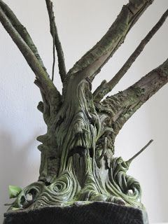 clay ,tree,wood,sculpture  Simona Cornacchia