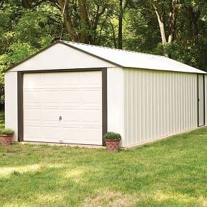 Nolte 12 Ft W X 24 Ft D Apex Metal Shed Sol 72 Outdoor Installation Included No Size 262cm H X 365cm W X 731 In 2020 Metal Shed Outdoor Sol 72 Outdoor