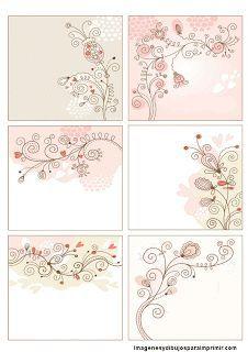 Tarjetas de flores para imprimir                                                                                                                                                                                 Más