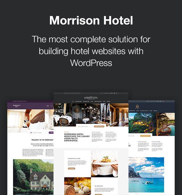 Morrison Hotel Wordpress Booking Theme In 2020 Morrison Hotel Hotel Website Hotel