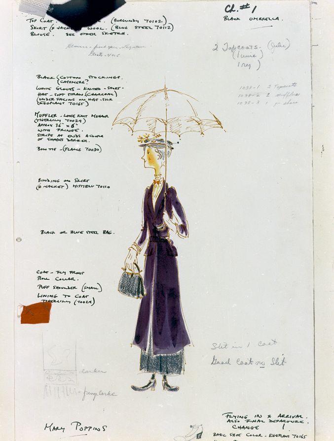 Mary Poppins original sketch