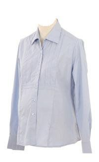 Lilo Maternity Long Sleeved Oxford Shirt (X-Small, Light Blue) Lilo Maternity. $30.00