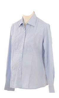 Lilo Maternity Long Sleeved Oxford Shirt (X-Small, Light Blue) Lilo Maternity. $30.00