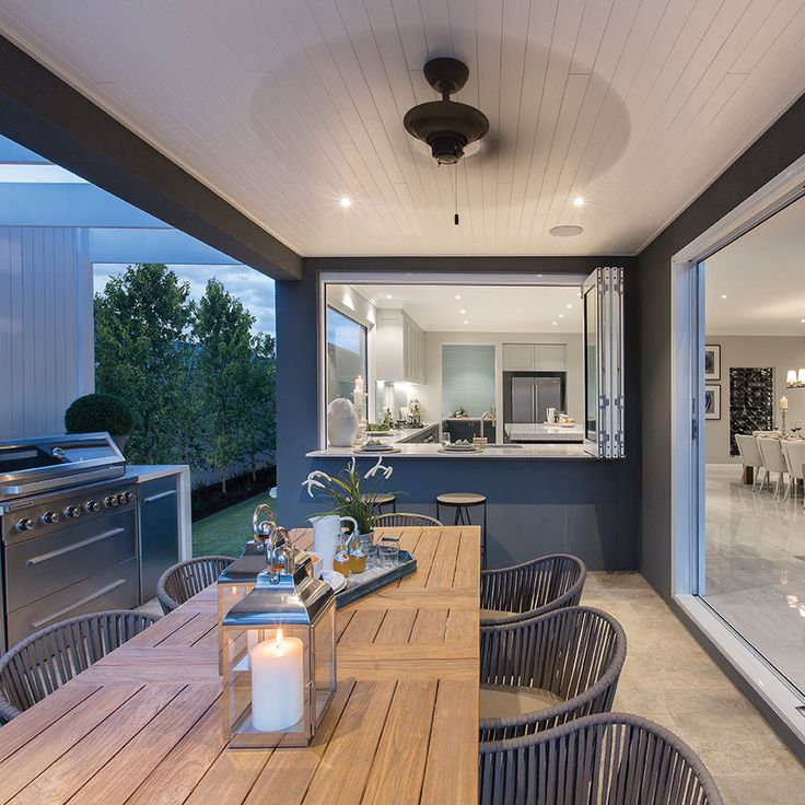 Stylish outdoor area, perfect for a Friday night BBQ.   #FriYAY #tilestyle